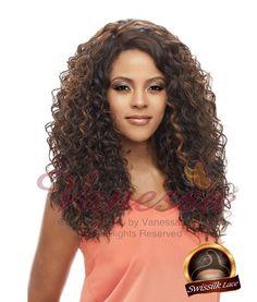 Vanessa Honey C Brazilian Human Hair Blend Lace Front Wig TCHB ALBEX