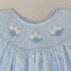dots and smocking Smocking Plates, Smocking Patterns, Sewing Patterns, Smocking Tutorial, Skirt Patterns, Coat Patterns, Blouse Patterns, Little Girl Dresses, Girls Dresses