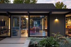 """Renewed Classic Eichler Remodel  Klopf Architecture, Growsgreen Landscape Design, and Flegel's Construction partnered to bring this mid-century atrium Eichler home up to 21st century standards. Together with the owners, Geoff Campen and the Klopf Architecture team carefully integrated elements and ideas from the mid-century period without making the space seem dated. They entrusted Klopf Architecture to respectfully expand and update the home, while still keeping it """"classic"""". The Klopf…"""