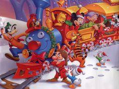 Fond d'Ecran Hiver (Mickey et ses amis)