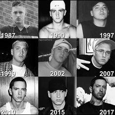 Which year of Eminem do you like the most? Eminem Memes, Eminem Rap, Rap God, Rap History, Eminem Wallpapers, Sound Song, Eminem Photos, Eminem Slim Shady, The Real Slim Shady