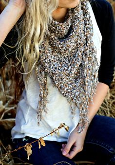 Yellow Spot Designs on ETSY: Triangle Handmade Crochet Scarf - Many Colors Offered - Love this! Definitely a need for fall.
