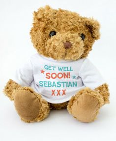 Get Well Soon - Personalised with name teddy bear