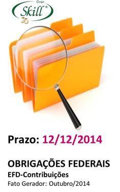 Fique por dentro das obrigações fiscais que vencem em 12/12.