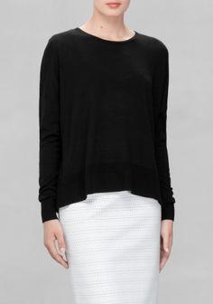 #andotherstories simple merino wool sweater