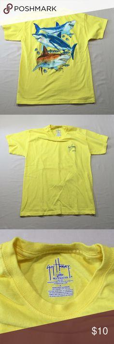 Guy Harvey Yellow Shark Fishing T-Shirt Sz L Boys New without tags. Guy Harvey Shirts & Tops Tees - Short Sleeve