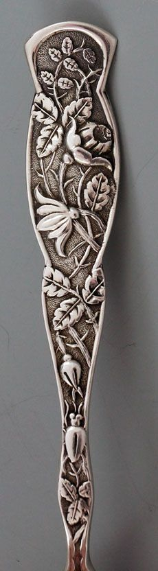"""Knowles sterling silver """"Rose"""" or """"Bug"""" pattern, c1881"""