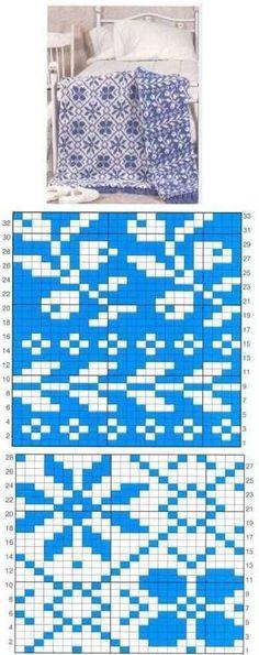 Knitting Charts, Knitting Stitches, Knitting Patterns, Tapestry Crochet Patterns, Crochet Bedspread, Crochet Afghans, Crochet Chart, Diy Crochet, Double Knitting