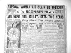 May 23, 1934 Dillinger's girlfriend, Billie Frechette found guilty. Billie Frechette was convicted and sentenced to two years on the very same day that Bonnie & Clyde were shot to death in a hail of bullets. John Dillinger was doing everything he could to financially help her to win back her freedom.