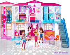 Shop for Barbie dolls and toys and find fab fashions, playsets and fashion dolls. Browse Barbie dolls and toys sparkling with pinktastic fun in the Barbie toys collection including dollhouses, Barbie& Dreamhouse, fashions and doll accessories. Barbie Doll Set, Barbie Sets, Doll Clothes Barbie, Barbie Doll House, Barbie Dream House, Mattel Barbie, Dreamhouse Barbie, Mattel Shop, Toys For Girls