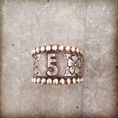 Custom ranch brand ring. Silo Silver.