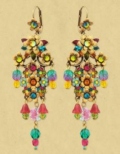 Michal Negrin ~ DANGLE EARRINGS 95921 ~ someday!! |Pinned from PinTo for iPad|