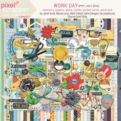 Work Day Collaboration | digital scrapbooking | project life, work, create