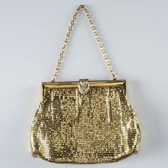 Vintage Whiting and Davis Gold Tone Mesh Purse