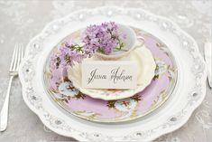 Vintage tea cup wedding favor.