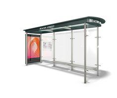 Modern Bus Stop Design Modern tempered glass bus stop