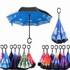 Double Layer Inverted Inverted Umbrella Is Light And Sturdy Winter Camouflage Pattern Vintage Dirty Reverse Umbrella And Windproof Umbrella Edge Nigh