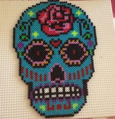 Sugar skull - Mascara mexicana hama beads by Anna Mimó Font