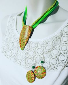 Polymer clay necklace Handmade Natasha beads