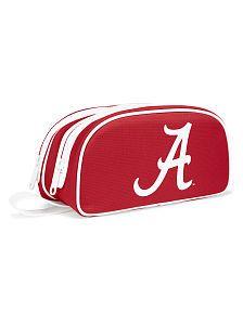 University of Alabama Double Zip Makeup Bag