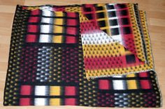 vintage blanket sample from our collection retro dekens alte wolldecke
