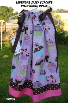 Lavender Sassy Cupcakes Pillowcase Dress | sweetsouthernsass - Clothing on ArtFire