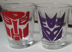 Autobot/Decepticon Shot Glasses