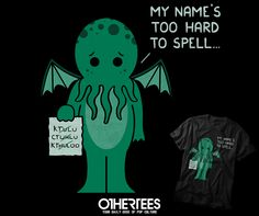 """MONSTER ISSUES - CTHULHU"" by HANDSOFFMYDINOSAUR T-shirts, Tank Tops, V-necks, Hoodies and Sweatshirts are on sale until October 22nd at www.OtherTees.com #tshirt #othertees #clothes #popculture #lovecraft #hplovecraft #horror #halloween #cthulhu #funny #callofcthulhu"