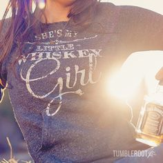Get cozy this fall with our adorable Whiskey Girl sweatshirt! // tumbleroot.com #country #countrygirl #whiskey