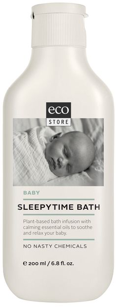 Get your baby relaxed and ready for bed with our Sleepytime Bath.   This family favourite will soothe your baby's skin, and the relaxing lavender and geranium oils will send them off to a peaceful sleep.