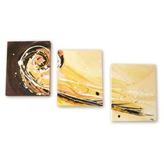 """Surf tryptique"" - Acrylic on canvas #paint #art"