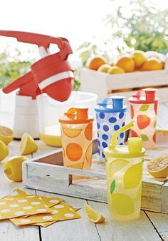 Fruit of the Summer Tumblers. To lock in nutrients, freeze freshly pressed juice in these exclusive tumblers.