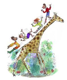 O Tapete Vermelho da Imagem: Images' Red Carpet: A girafa escorrega / Giraffe playing with children