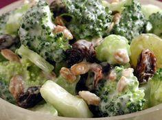 Broccoli, Bacon, Raisin Salad Recipe sub sunflower seeds instead of nuts