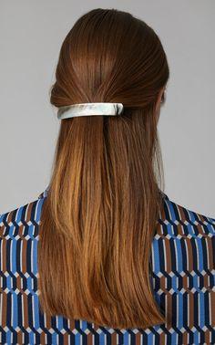Lorenzi Milano Rectangular Mother-Of-Pearl Hair Clip Latest Fashion Design, Signature Look, Pearl Hair, Hair Looks, Women's Accessories, Hair Clips, Bobby Pins, Luxury Fashion, Women Wear