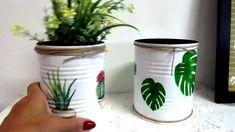 Diy Planters, Planter Pots, Decoupage, Flower Pots, Flowers, Cacti And Succulents, The Creator, Gardening, Homemade