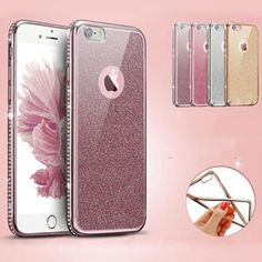 Luxury Electroplating Rhinestone Pattern Phone Cases For iPhone 6 6s 6/6S Plus Soft With Glitter Protective Phone Bags Case Capa