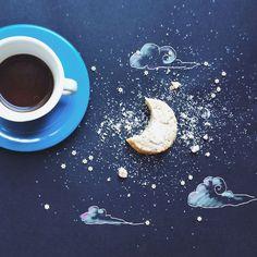 Artista cria ilustrações fofas enquanto toma café da manhã | Catraca Livre