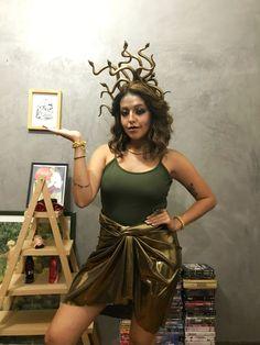 Medusa, carnaval, halloween, fantasia criativa, glitter, fácil. @ateliepequenanotavel