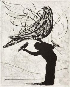 Vogels. Kunstwerk William Kentridge