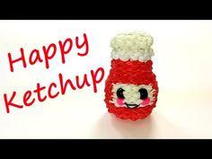 Happy Ketchup Tutorial by feelinspiffy (Rainbow Loom) - YouTube