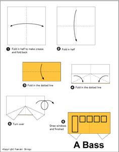 Easy Origami Train