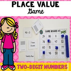 Place Value Game - Two Digit Numbers by Mrs Davidson's Resources