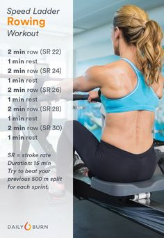 3 Rowing Workouts to Get Strong and Lean - Life by Daily Burn - Fitness and Exercises Hiit, Rower Workout, Treadmill Workouts, Gym Machine Workouts, Cardio Workouts, Running Workouts, Running Tips, Workout Plans, Workout Gear
