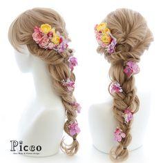 "Gallery 102 Order Made Works Rapunzel Style Hair Accessory for SOTSUGYO-SHIKI By ""Picco"" http://picco-flower.com #ローズ が #可愛い #ラプンツェル #スタイル の #髪飾り #オーダーメイド #卒業式 #custommade #original #hair #hairdo #disney #dress #rapunzel #wedding #bridal #party #event #headdress #結婚式 #ブライダル #ウェディング #花嫁 #ドレス #イベント #ヘアアレンジ #パーティー #オリジナル #ディズニー #picco"