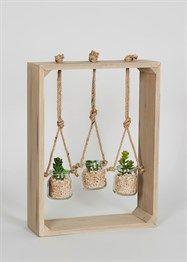 81fb8ff0d12 Wooden Frame Hanging Jars (41cm x 30cm x 10cm) Hanging Jars