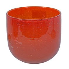 This listing is for one Home Decoration Handmade Large Bubble Red Thick Walled Recycled Glass Vase or Flower Pot, H = 21 cm. Price £32.99