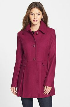 kensie Skirted Wool Blend Coat available at #Nordstrom