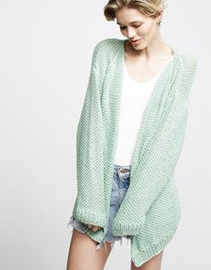 #mint #knitted #cardigan