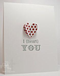 Cute idea for a 3D heart on a card